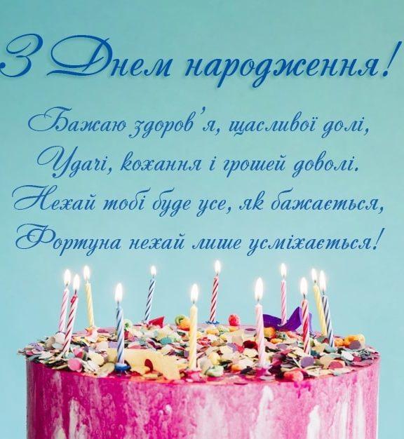 СМС привітання з днем народження